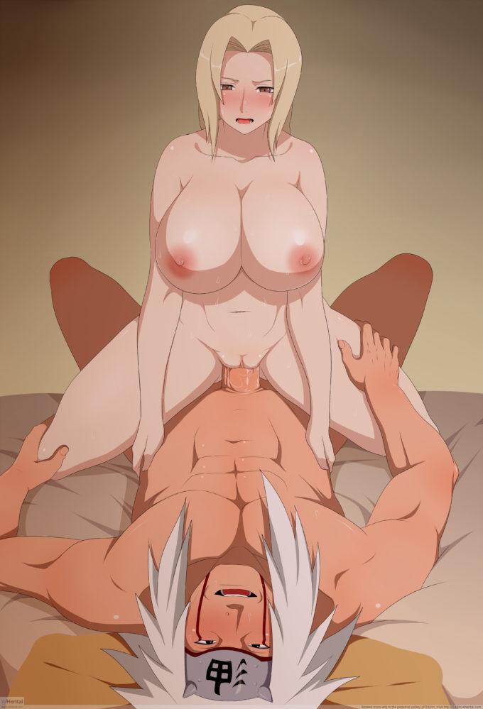 Tsunade Hentai - Tsunade big boobs slut giving a hot riding in Jiraiya!