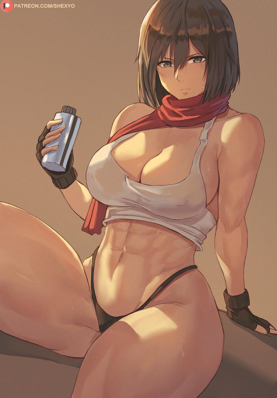Mikisa big tits Hentai Mikasa Attack On Titan Slut And Sexy Big Tits Girl